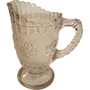Roman Rosette Pattern Glass creamer, pitcher, Bryce