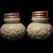 Consolidated Glass Victorian 'Beaded Dahlia' salt / pepper shaker set