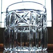 SOLD Column Block, Panel & Star, O'hara Glass Co. spooner, tumbler