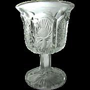Paneled Thistle, J.B.Higbee Glass wine, cordial