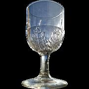 Pressed Leaf, McKee Glass goblet