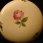 REDUCED Vintage Porcelain Wien Augarten Vienna Pink Rose Lidded Dish