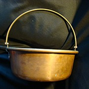 REDUCED Vintage Brass Copper and Metal Cauldron with handle