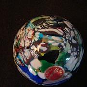 REDUCED Murano Millefiori Art Glass Paperweight Murano, Italy