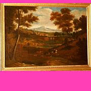 SOLD 1700 Deer Hunting Scene, Dutch master JF van Bloemen, Museum Quality