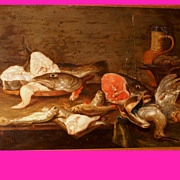 SOLD Museum Quality 17thC Hunting Still life 1630 by Alex Adriaenssen 1587-1661. 50K painting.