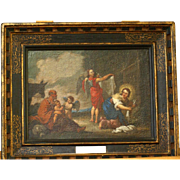 "SOLD Superb 17thC painting by S Bourdon ( 1616-1671). ""The flight into Egypt"". Museu"