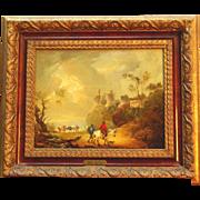 SOLD 18thC romantic landscape painting by Peter La Cave ( 1769-1811)