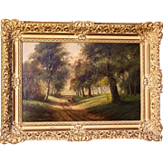 SOLD Superb Dutch impressionistic landscape painting by Hendrik Jan Ten Cate ( 1867-1955). Hig