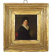 Georgian Miniature Portrait Painting English School Circa 1815