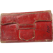 Georgian Miniature Almanac Book John Goldsmith Red Leather Circa 1822