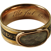 SOLD Georgian Mourning Ring Augustine Prevost Family Rare American Military History Circa 1809