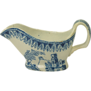 Antique Georgian Miniature Blue and White Transferware Sauce Boat Circa 1820 AF