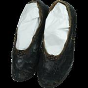 SALE Circa 1820 Children's Shoes Cut Steel Decoration Georgian Era