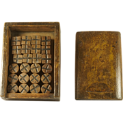 SOLD Antique 19th Century Children's Wooden Game Tic Tac Toe Noughts and Crosses English Circa