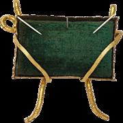 SALE Antique Pin Cushion French Gilt Ormolu Napoleon III Circa 1860