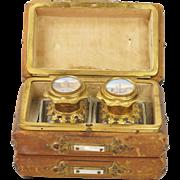 19th Century French Scent Casket Perfume Caddy Grand Tour Views of Paris Circa 1850
