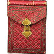 Georgian Silk Pocketbook Circa 1790 With Provenance RARE