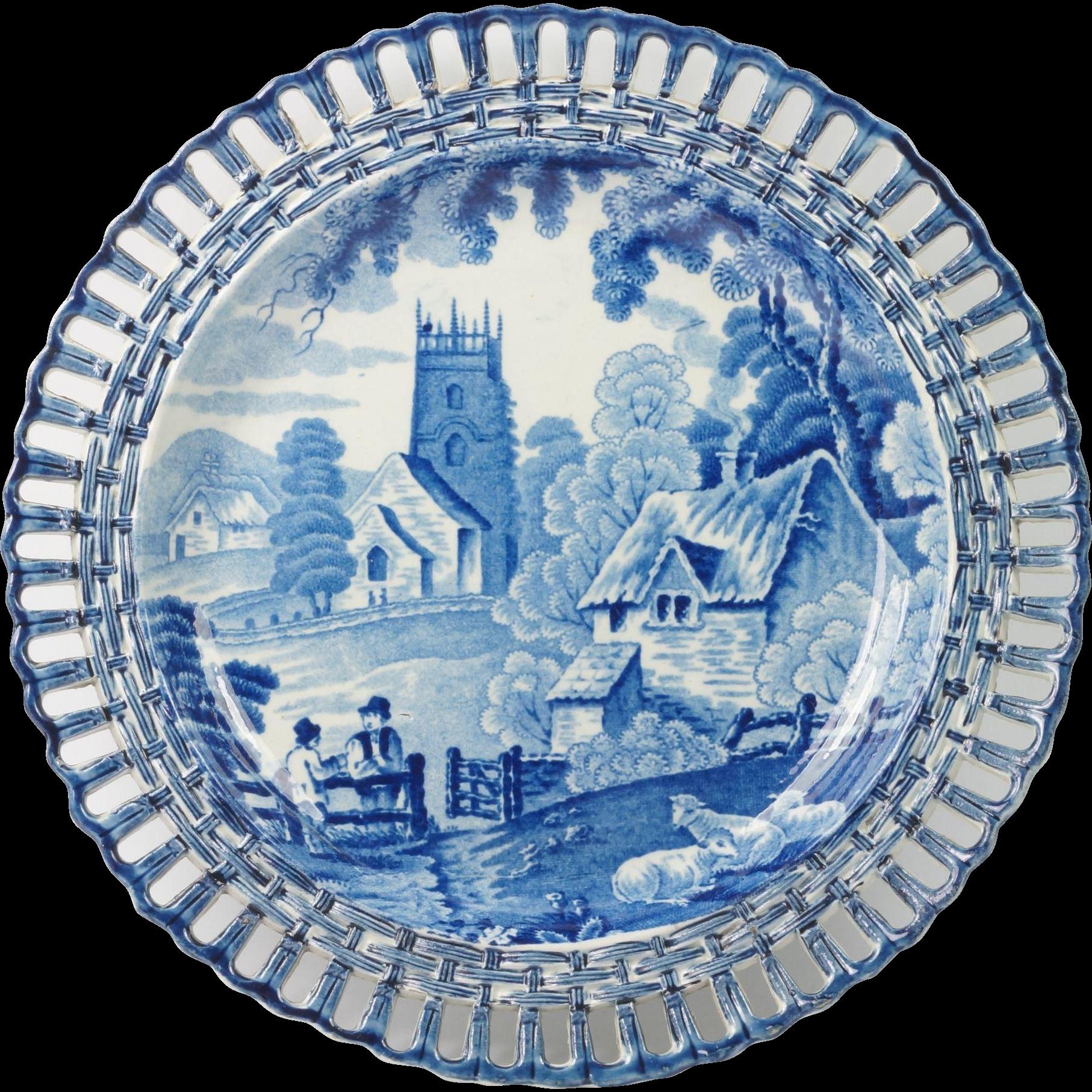 Chinese Ginger Jars Circa 1820 English Transferware Arcaded Blue And White