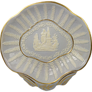 SALE Georgian Ridgway Porcelain Sprigged Dish Circa 1810
