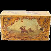 Circa 1870 French Vernis Martin Decorated Box