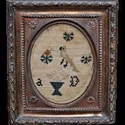 Georgian Miniature Needlework Sampler English Circa 1810