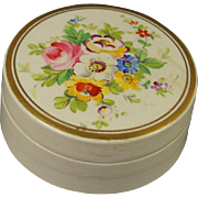 Antique 19th Century Trinket Ointment Pot Hand Painted Beautiful English Circa 1830