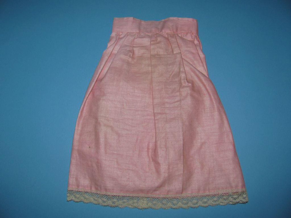 Vintage Pink Doll Skirt For Bisque And China Dolls