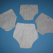 4 Pairs of Vintage Doll Underwear