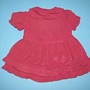 Burgundy Ruffle Doll Dress