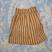 Brown Striped Handsewn Doll Skirt