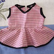 Pink Plaid Doll Dress For Chubby Doll