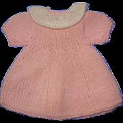Sweet Pink Knit Doll Dress