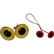 2 Pairs Glass Eyes - For Rag Dolls Or Teddy Bears