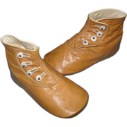 SOLD Vintage High Top Leather Baby Doll Shoes