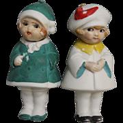 SOLD 2 German Bisque Nodder Dolls