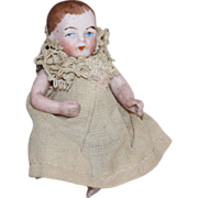 Miniature German Bisque Baby Doll - Sweet Small Size