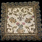 Vintage Square Brocade Dollhouse Rug