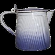 Vintage Enamel Graniteware Coffee Pot - Rare Purple Color