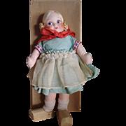 Georgene Novelties Cloth Dutch Doll - Original Box