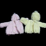 2 Vintage Doll Sweater Sets