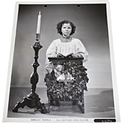 1939 Shirley Temple Publicity Photo Still - Offering A Holiday Prayer