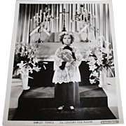 1937 Shirley Temple Publicity Photo Still - Easter Picture