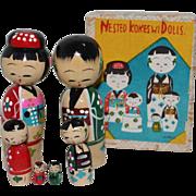 SOLD Kokeshi Nesting Dolls In Original Box