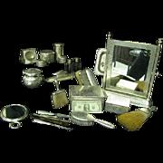 RARE1890 Sterling Dresser set Merrick Pattern 21-Pc SET