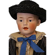 "19"" German Bisque Character Doll Marked ""6"" Just Like Heubach 7580 Mold Adorable"