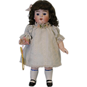 "SALE c.1890 HUGE 10"" All Bisque German Kestner 329 Doll with Molded Socks"