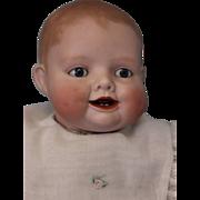 "SALE Antique 19"" Bonnie Babe Bisque Baby Doll Sleep Eyes Georgene Averill Adorable!"