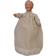 "12"" Antique German Bisque doll William Goebel Wind Up Walker Laughing Character"