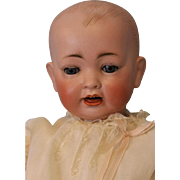 "SALE c.1915 18"" Hertel Schaub  151 German Bisque Antique Baby Doll Solid Dome Head"